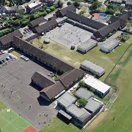 sky view of wellfield middle school