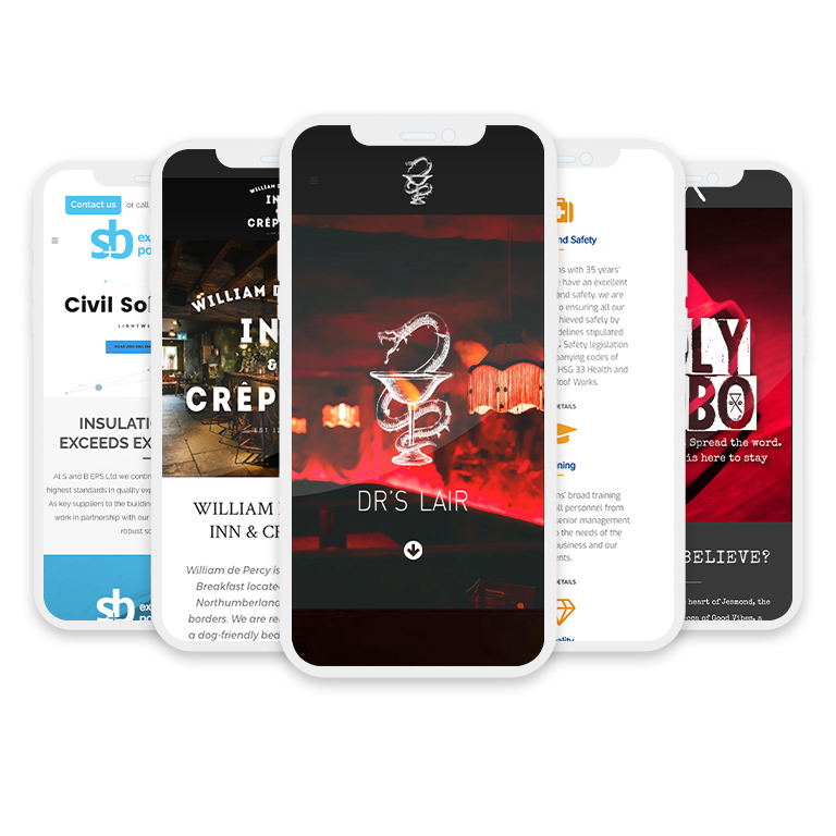 iphone templates with alternate client sites on screens